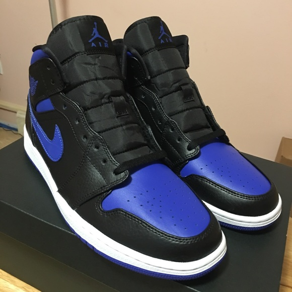 Nike Air Jordan 1 Mid Royal Black Blue